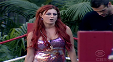 Big Brother 12 Rachel Reilly floaters grab a life vest