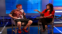 Big Brother 15 - Judd Daugherty evicted - Judd's bear shirt