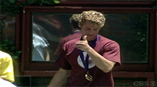 Nathan Marlow wins the Power of Veto Big Brother 4